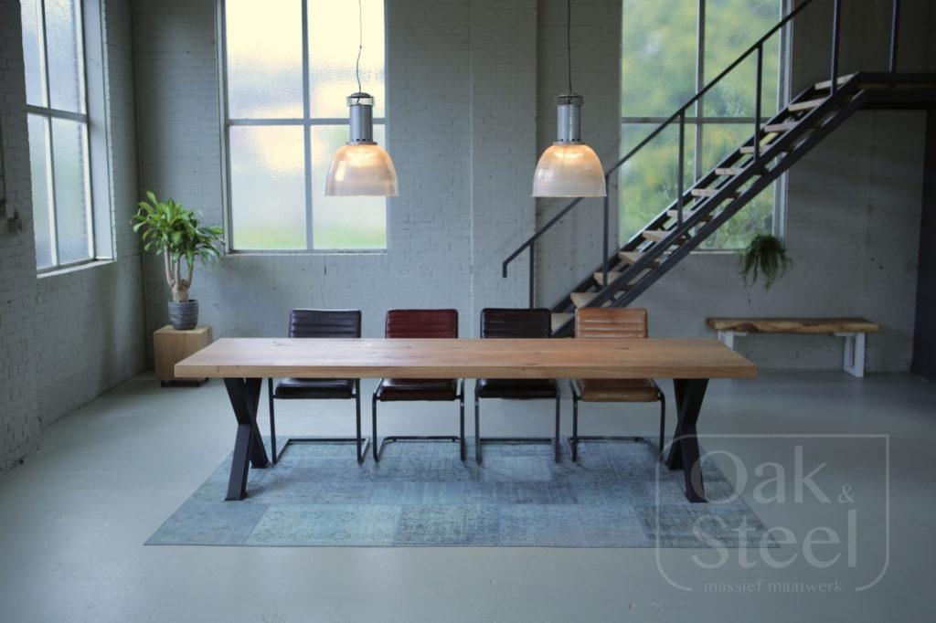 Eikenhouten tafel 6,5cm