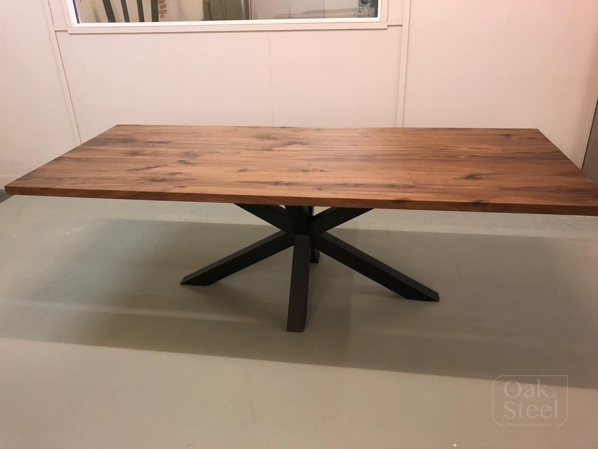 Onderhoud Notenhouten Tafel : Noten tafels oak steel