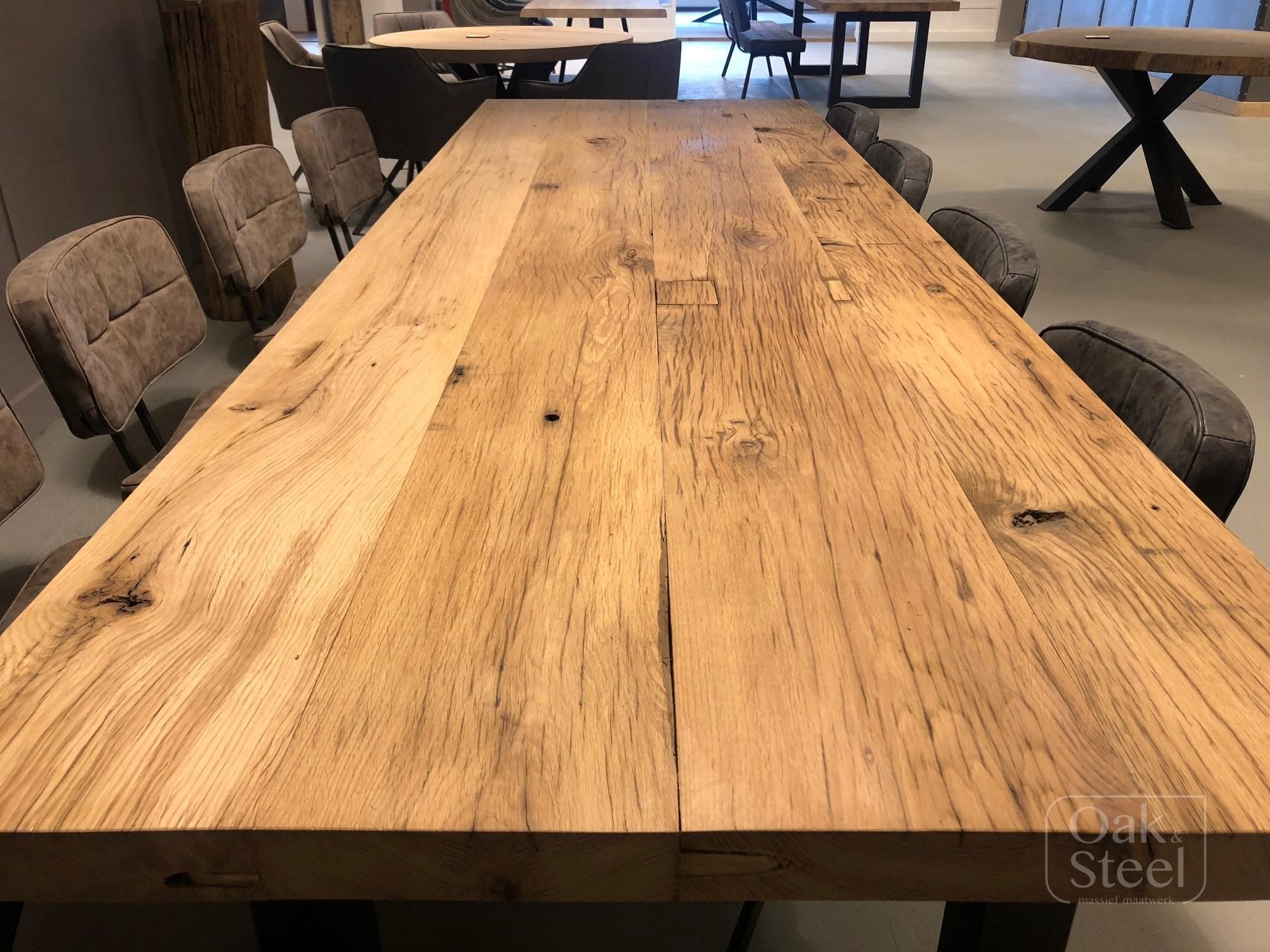 Robuuste Industriele Tafels.Robuuste Tafels Oak Steel