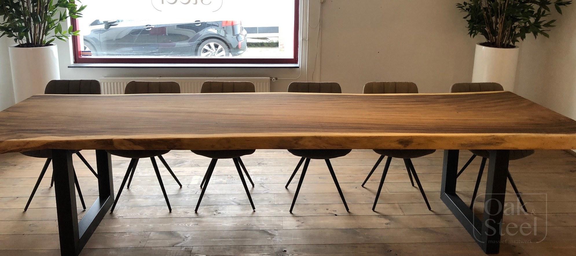 Eikenhouten Tafel 4 Meter.Portfolio Oak Steel